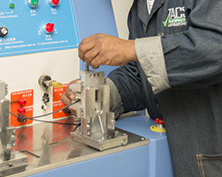 Image of technician working